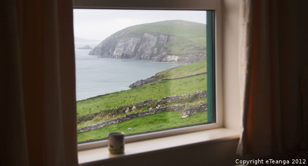 Gaeltacht view from bed and breakfast
