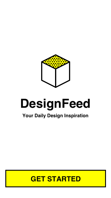Designfeed start screen