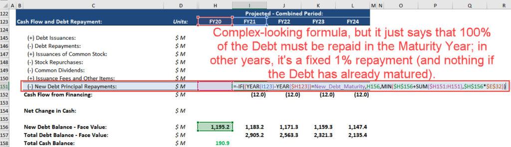 Combined Cash Flow Statement - Bottom