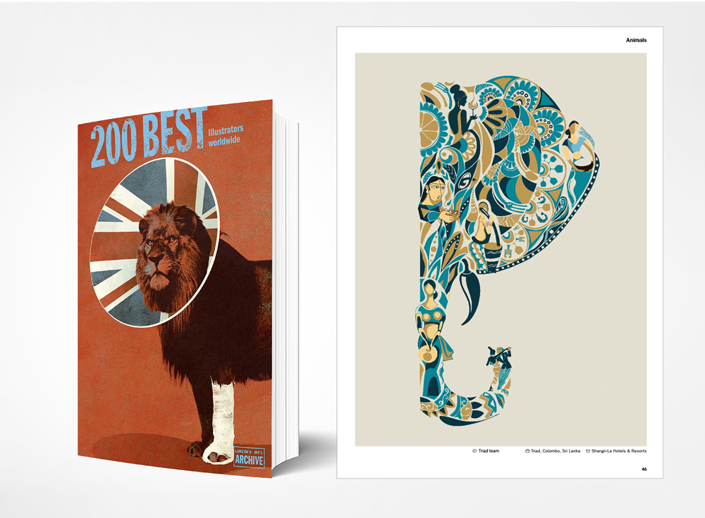 Triad featured in Lürzer's Archive 200 Best Illustrators