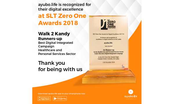 ayubo life awarded for Best Digital Integration campaign - Adaderana