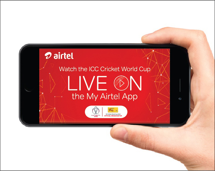 The ICC Cricket World Cup 2019 live on the Airtel mobile