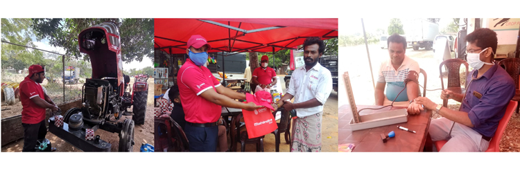 "DIMO's Mahindra tractor service campaign helps farmers prepare for upcoming  ""Maha"" season - Adaderana Biz English 