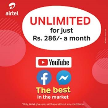 Airtel launches 'Unlimited Pack' for streaming and social networking -  Adaderana Biz English | Sri Lanka Business News