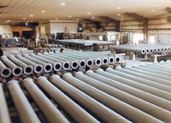 Hydraulic ash conveying pipe.