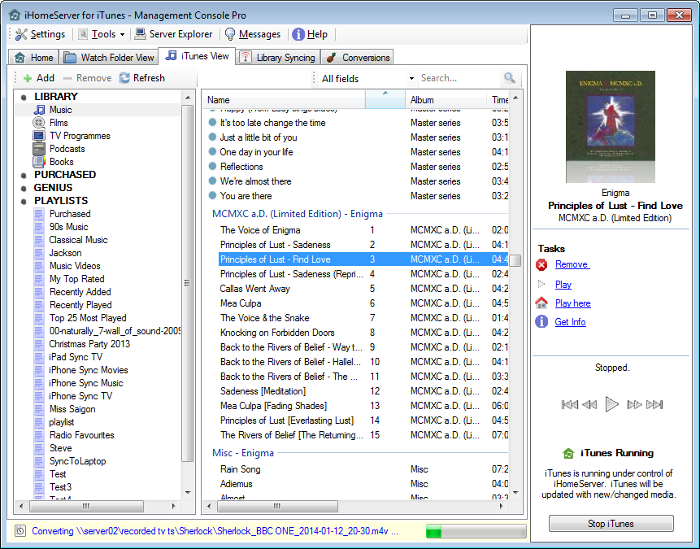 iHomeServer for iTunes : Supercharge iTunes