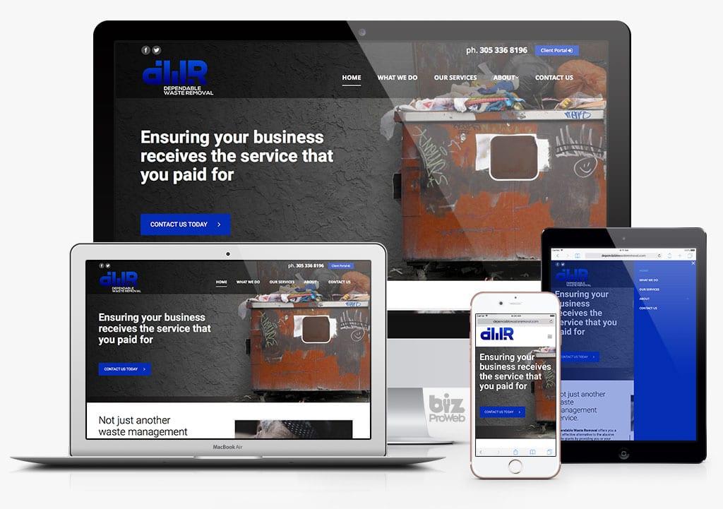 DependableWasteRemoval.com - Powered by bizProWeb