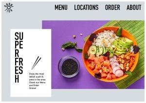 Restaurant website design with bizProWeb - Website Builder for Business