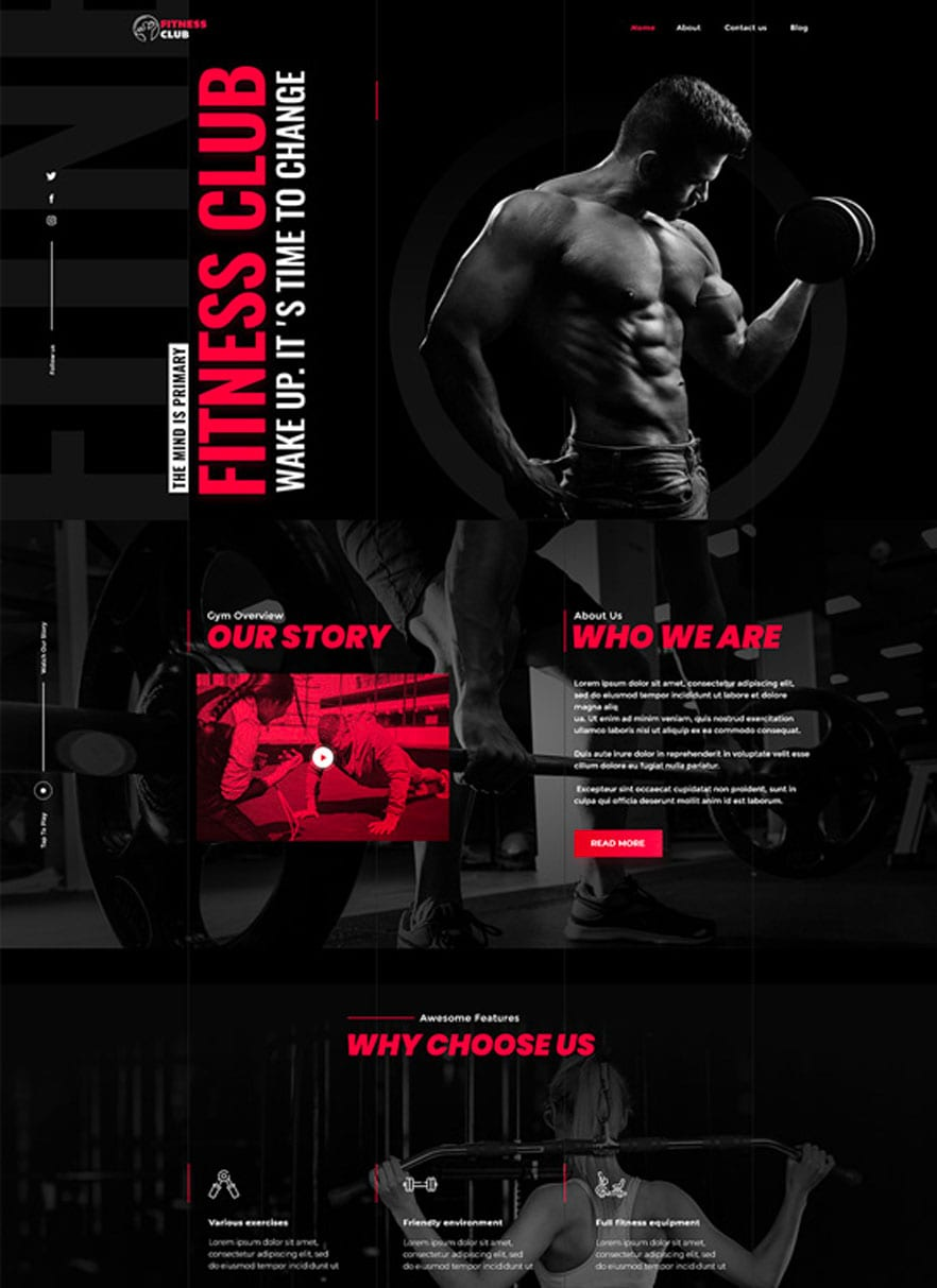 Personal Trainer website design with bizProWeb - Website Builder for Business