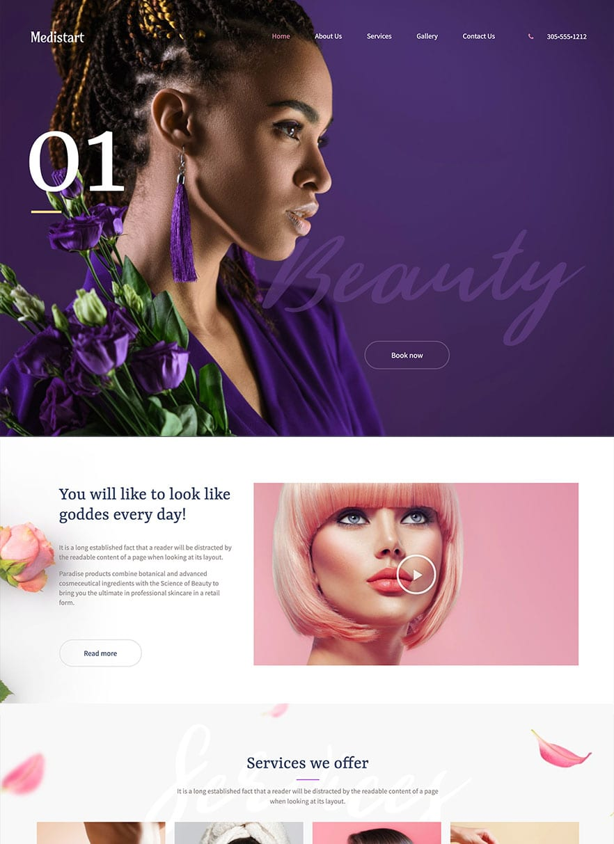 Salon Website Design - Built by bizProWeb - Advanced Website Builder - Miami