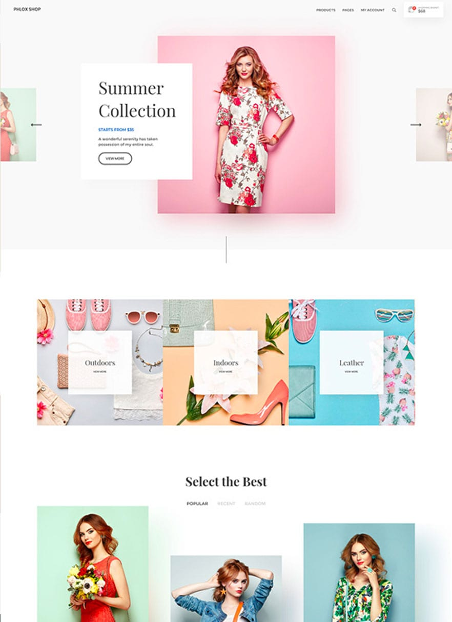 Online Store website design with bizProWeb - Website Builder for Business