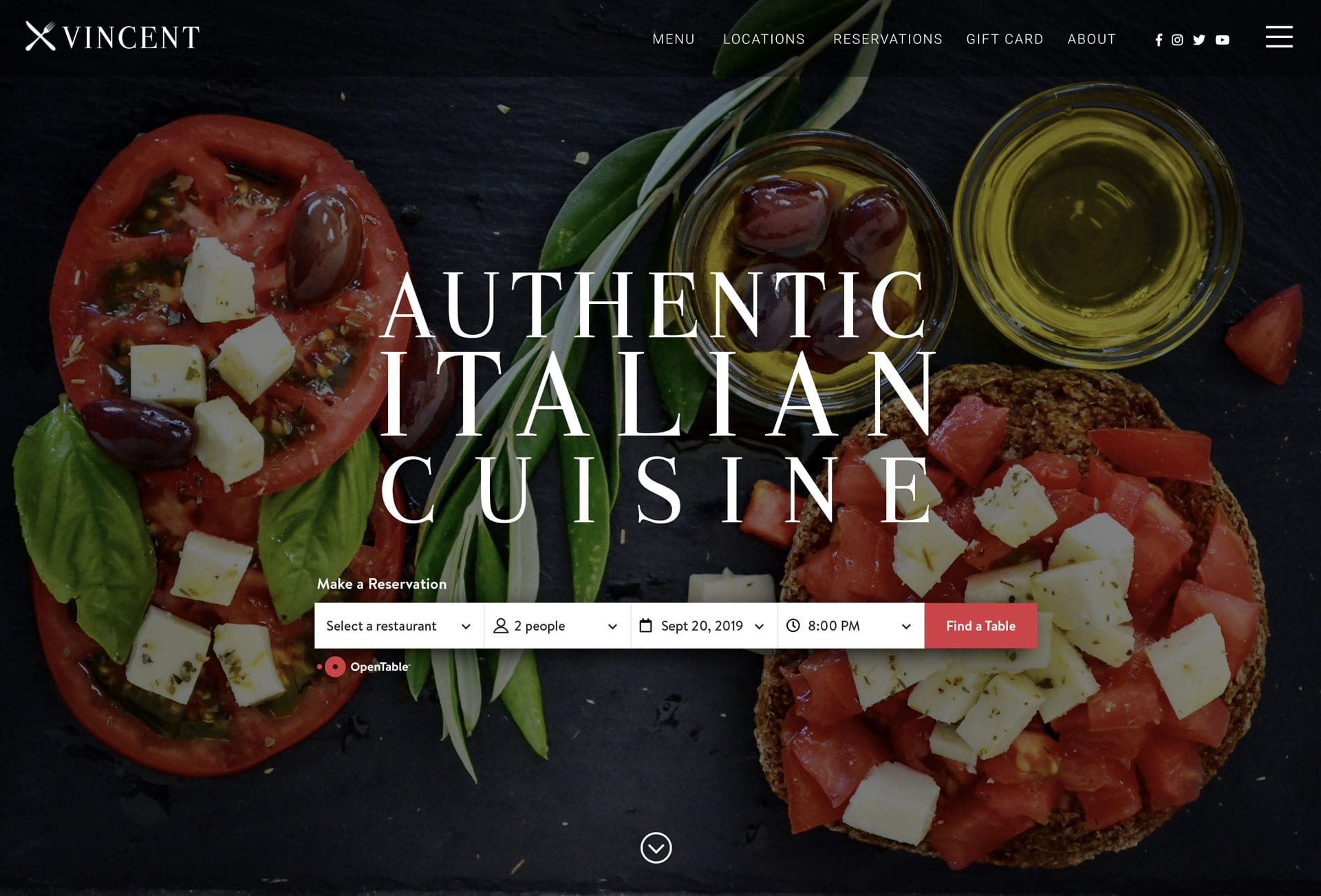 Accept reservations with Open Table integration - bizProWeb - Restaurant Website Designer