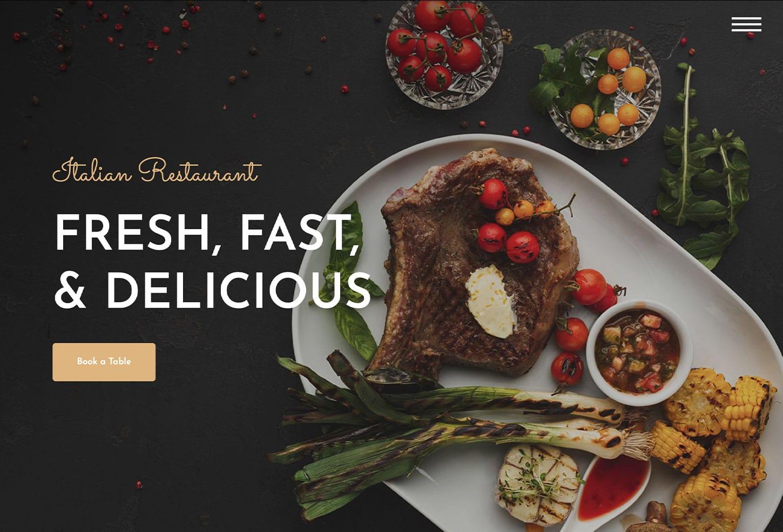 Italian Restaurant Website Design - bizProWeb - Business Website Builder Miami
