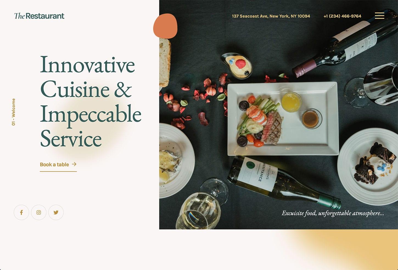 The Restaurant Website Design - bizProWeb - Business Website Builder Miami