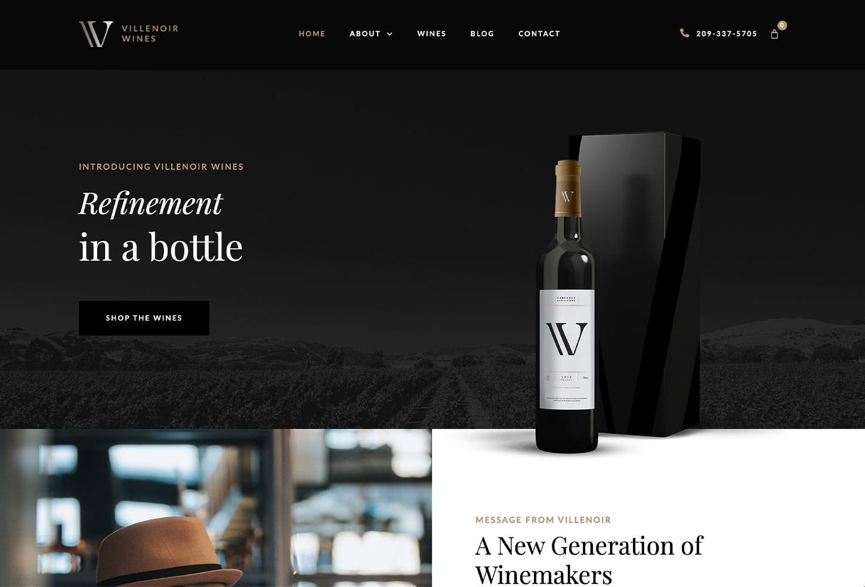 Wine Bar and Restaurant Website Design - bizProWeb - Business Website Builder in Miami