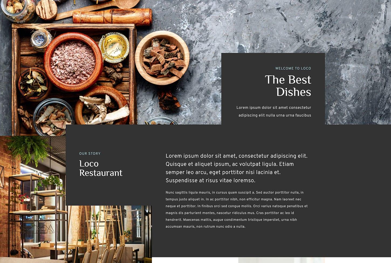 Diseño de sitios web de restaurantes con bizProWeb Advanced Website Builder en Miami