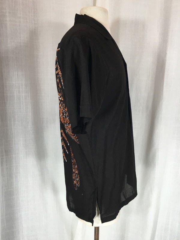 la boudoir mens batik black shirt (5)