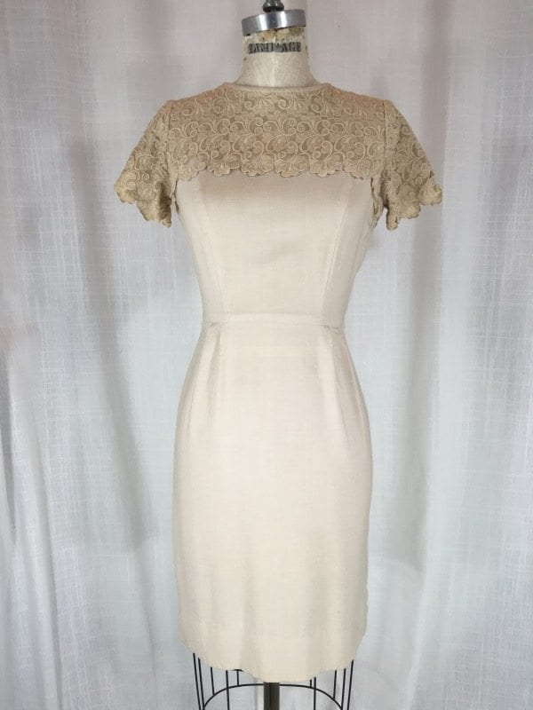 la boudoir miami 50's linen lace dress (4)