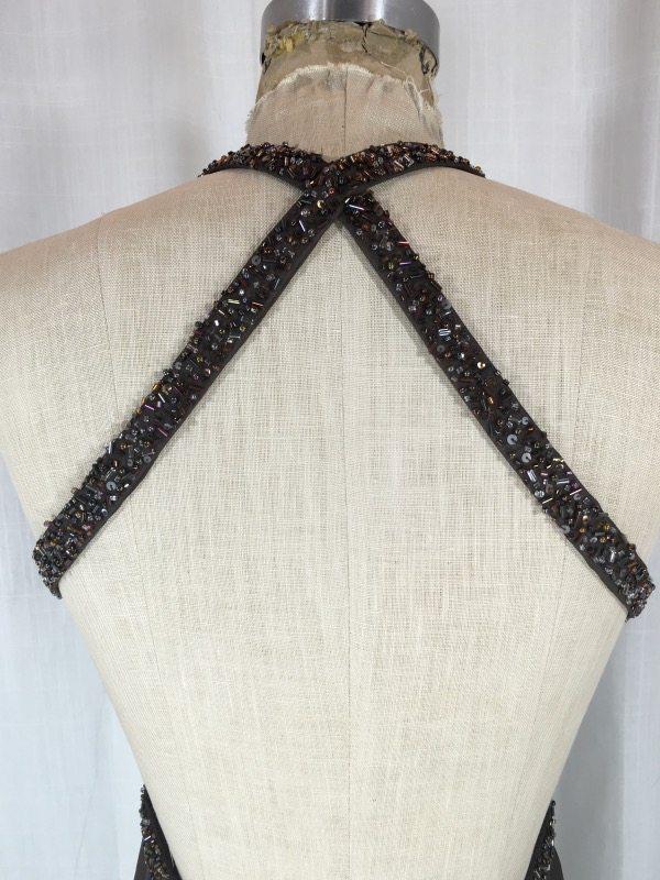 la boudoir miami brown beaded evening dress (2)