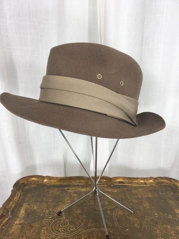 062620132d Vintage 1940's Brown Wool Men's Hat | L.A. Boudoir Miami