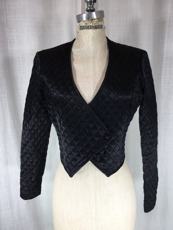 la-boudoir-miami-1980s-black-satin-quilted-jacket-2