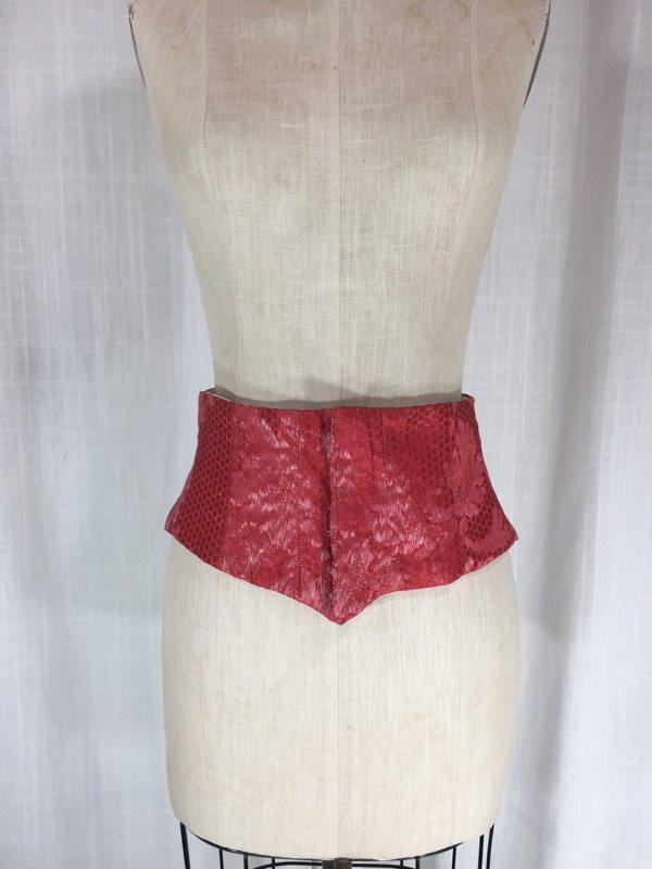 la boudoir miami red brocade waist corset (2)