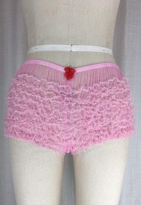 la boudoir miami pink 1950s ruffle panty (2)