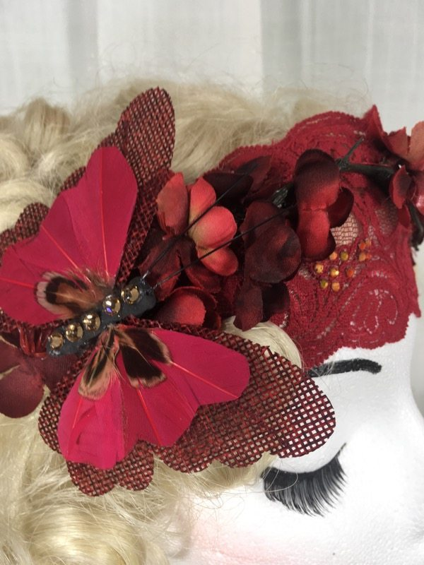 la boudoir miami red lace 1920's headpiece by lauren arkin miami (2)