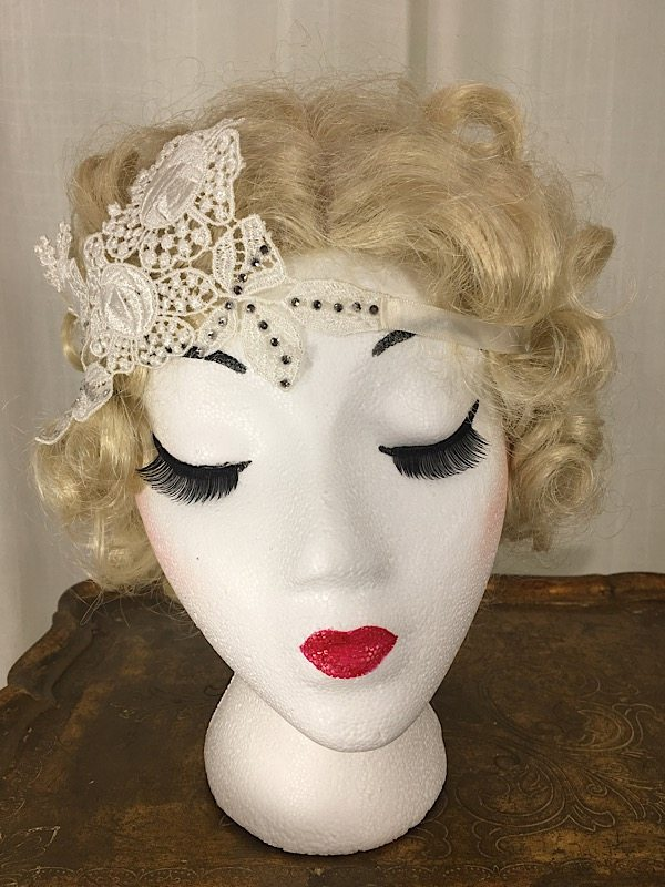 la boudoir miami white lace 1920s headpiece (2)
