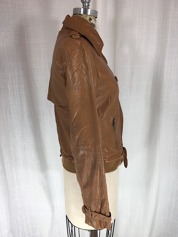 la boudoir miami brown faux leather jacket (2)