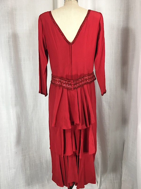 la-boudoir-miami-1980s-red-beaded-ruffle-dress-6