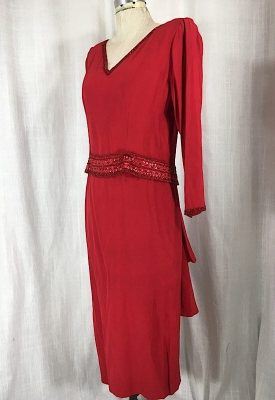 la-boudoir-miami-1980s-red-beaded-ruffle-dress-3