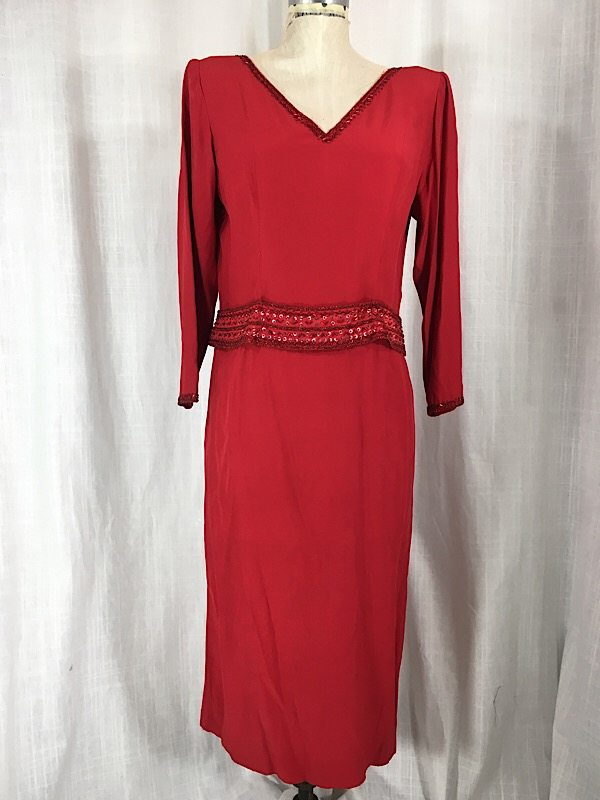 la-boudoir-miami-1980s-red-beaded-ruffle-dress-2