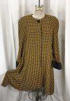 la-boudoir-miami-1980s-yellow-and-black-houndstooth-swing-coat-2