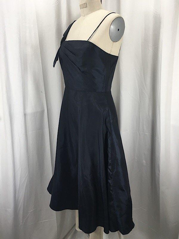 Vintage Inspired 1950\'s Dark Navy Cocktail Dress - L.A. Boudoir Miami