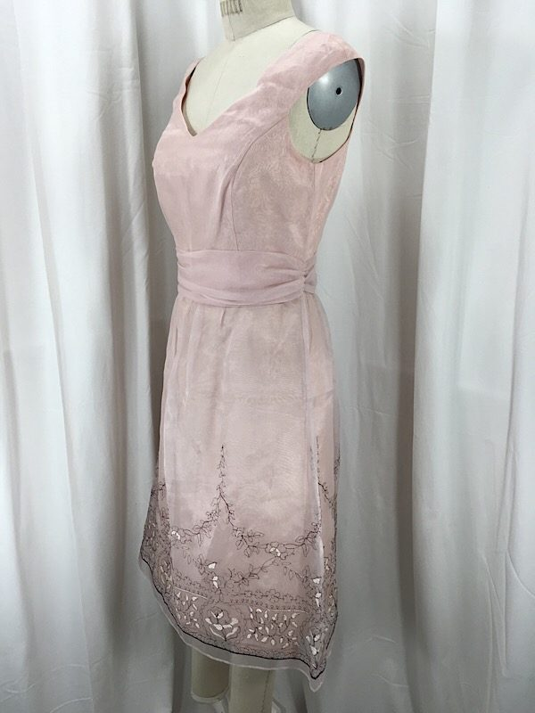 la-boudoir-miami-1990s-pink-organza-floral-embroidered-cocktail-dress-2