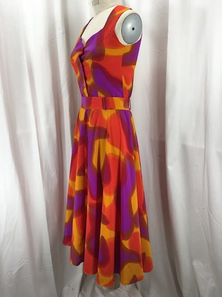la-boudoir-miami-1970s-purple-and-orange-water-color-skirt-and-top-set-2