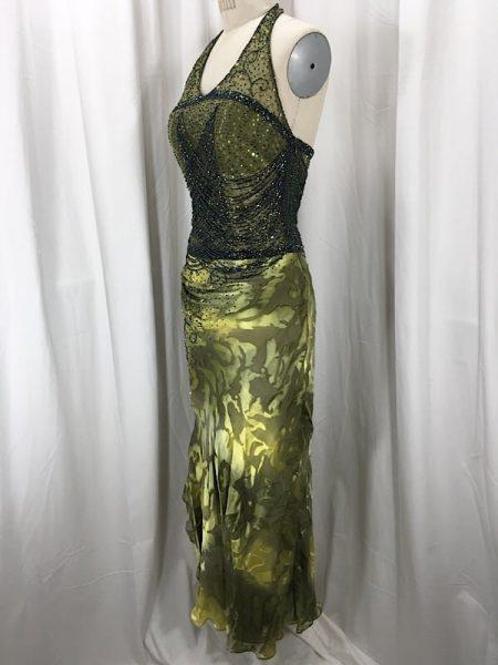 la-boudoir-miami-1920s-olive-green-beaded-asymmetrical-hem-evening-dress-2