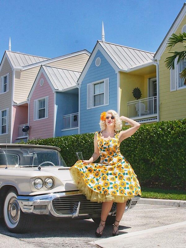 vintage 1950's sunflower dress jenna beth
