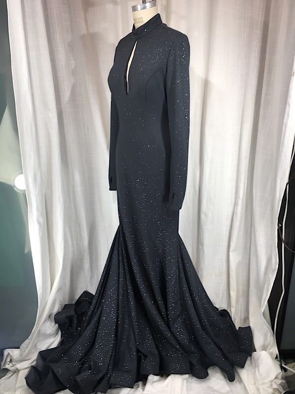 la boudoir miami jovani vintage inspired grey glitter backless evening gown (1)