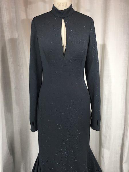 la boudoir miami jovani vintage inspired grey glitter backless evening gown (1)