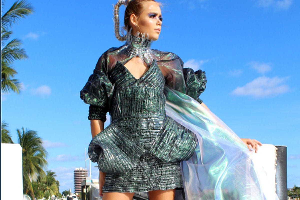 Plastic Dress designed by Ariel Swedroe for National YoungArts Week 2020 in Miami - Swedroe by Ariel