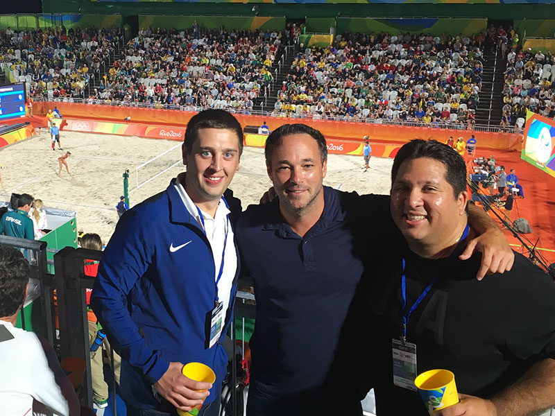Dr. Julio Pardave and the USA Sports Therapy staff at the Rio Olympics