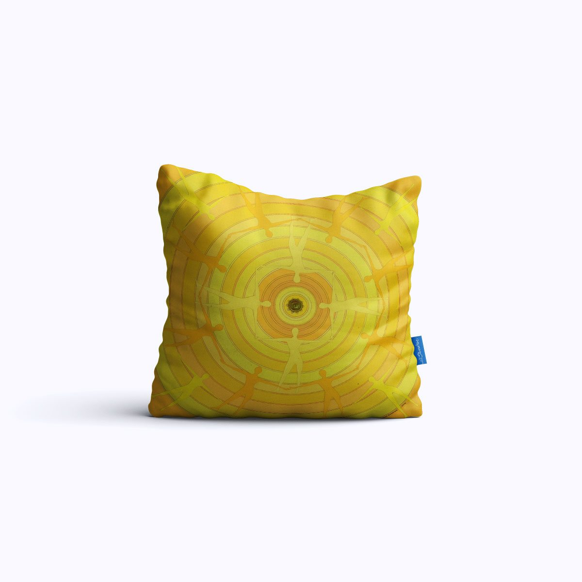 RMS022-Yellow Spin – Throw Pillow – Swedroe Licensing