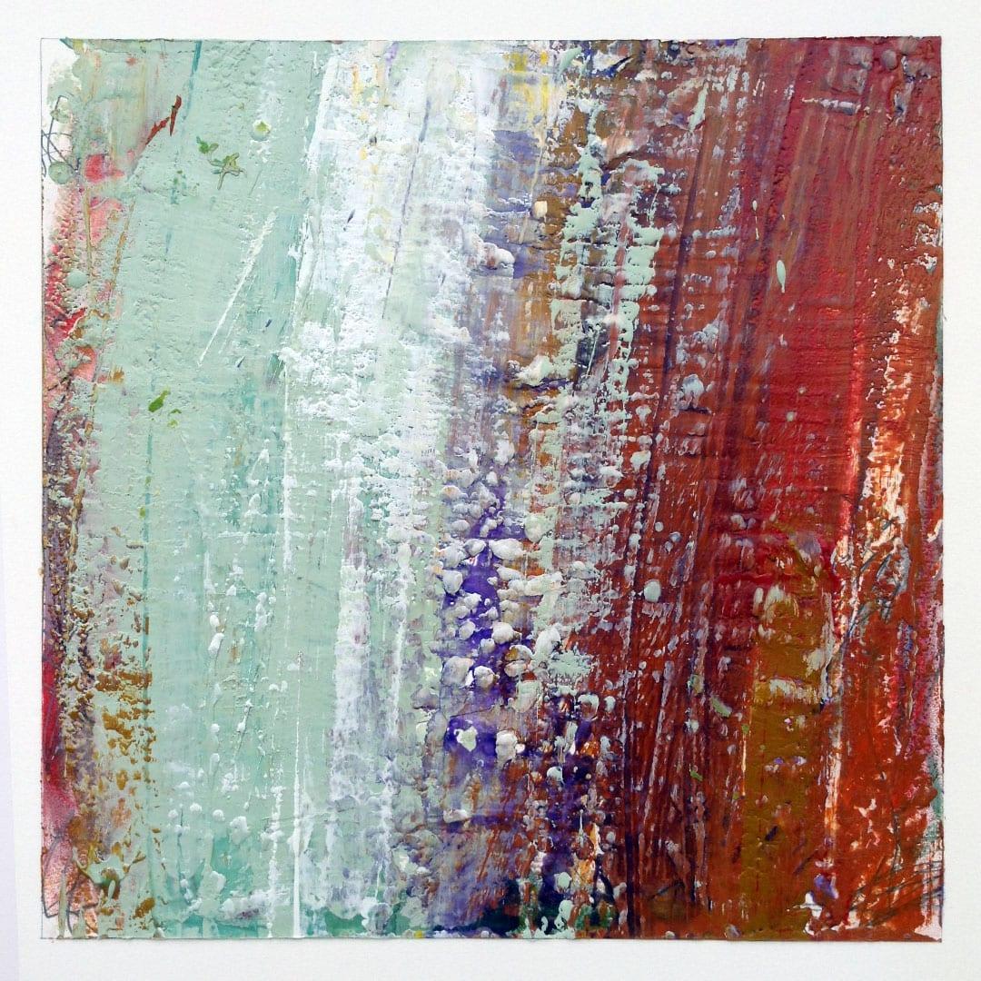 Reichenbach #5 - Encaustic Wax Art by Hal Shunk