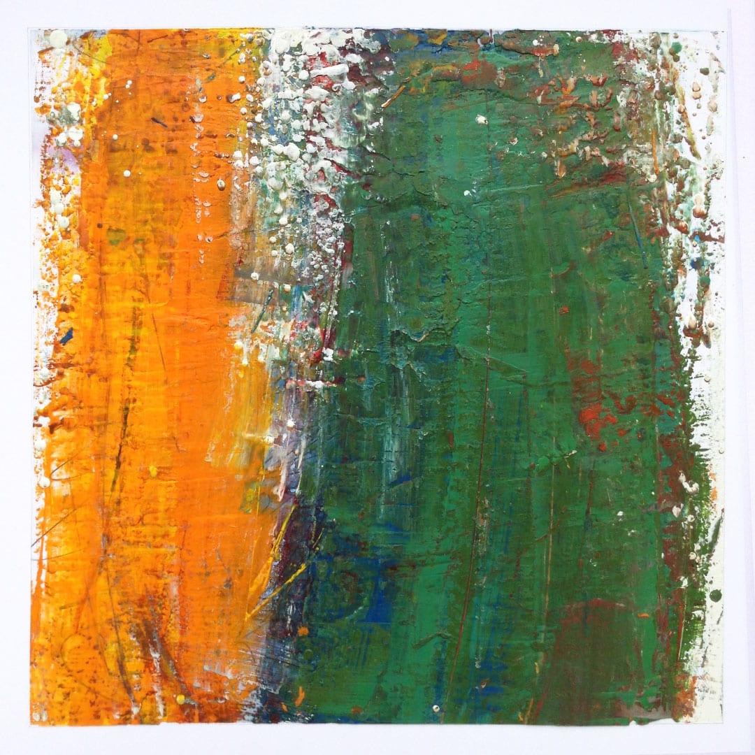Reichenbach #12 - Encaustic Wax Art by Hal Shunk
