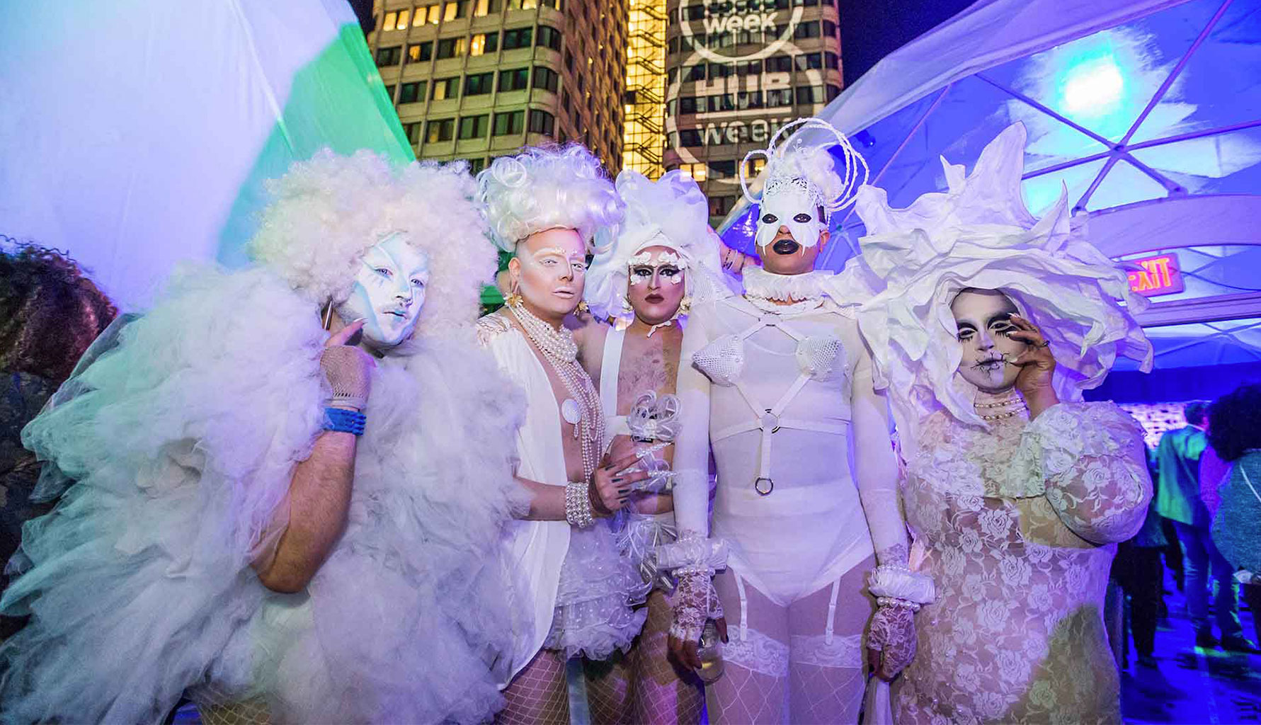 Drag Queens in White