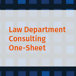 Law Department Consulting One-Sheet