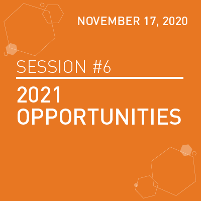 Session 6: 2021 opportunities