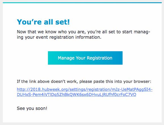 Manage Your Registration